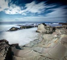Terrigal Rocks Under Moonlight by brentbat