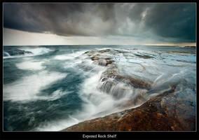 Exposed Rock Shelf by brentbat