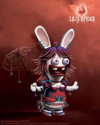 Raving Rabbids : Lily Spider by Angilram
