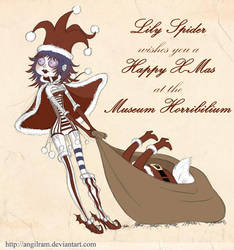 Lily Spider says Happy X-Mas by Angilram