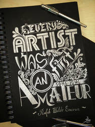 Every Artist Was First An Amateur by SongYong