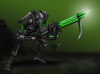 Necron Warrior by necrophadian
