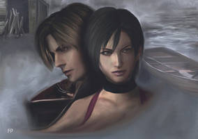 Resident evil 4: Ada and Leon by PhlegmaticPerson