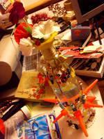 vase of flowers by Lapaka