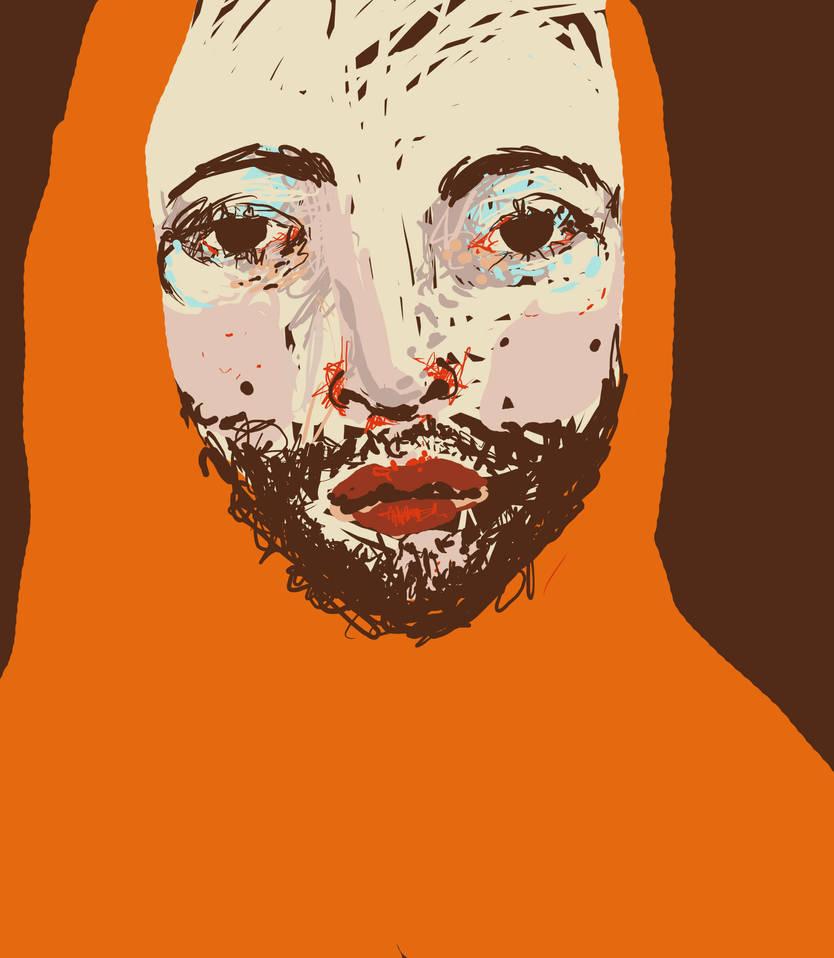 sad beard by Lapaka
