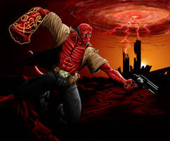Hellboy Colored by PeterMan2070