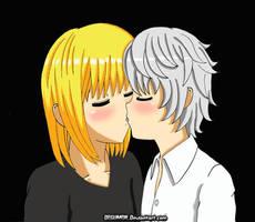 MelloxNear Innocent Kiss by Degumon