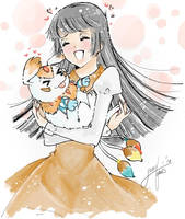 Request: She and her Digimon by meguchan91
