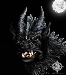 Leathian, the Dragwolf. by strigae-excandui