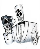 Grim Fandango - Manny Calavera by PhilWiesner
