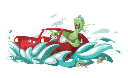 Merman in a Trabi by sukisouk