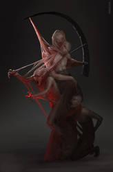 Silent HIll 2 boss concept art by horizer