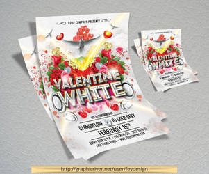 White Party Flyer by feydesignGR