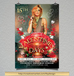 Valentines Day Flyer by feydesignGR