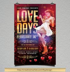 Love Days Valentine Flyer by feydesignGR