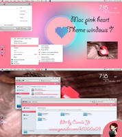 Theme Mac Pink Heart by me by k1000adesign