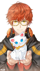 707 from Mystic Messenger Render 2 ~ by DokiDokiPakuPaku