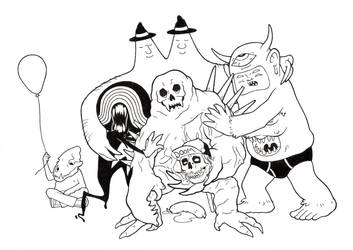 Group Hug - Low Brow Gang 2 by RenMalone