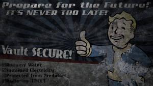 Fallout: Vault Boy Billboard Wallpaper by Birdie94jb