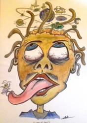 Caricature of insane universe by MaelikR