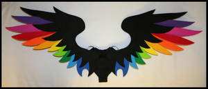 Medium Feathered Rainbow 2 by CraftyWingy