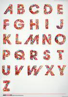 Typography Candy Alphabet by crymz