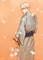 Sakura and Snow by litorella