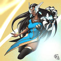 Symmetra Commission by Reabault