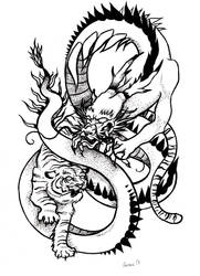 Tiger and Dragon by Garance-Croville