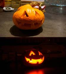 My first ever made halloween pumpkin by sergbel