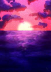 Sea Sunset by RavennaMoonlight