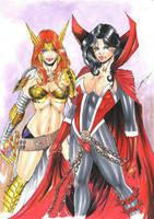 Angela and Spawn  by ednardo666