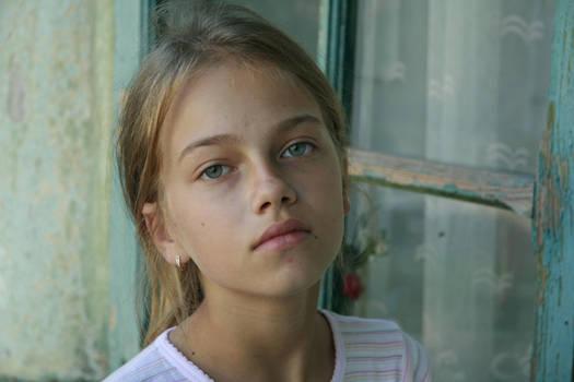 cute girl portrait by little-girl-stock