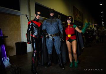 Batman Nightwing and Robin Cosplay at Tampa Bay Me by Brokephi316