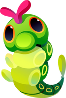 Caterpie #010 by Kuitsuku