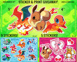 Pokemon Sticker Giveaway! by Kuitsuku