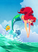 Ariel Illustration by Kuitsuku