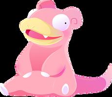 #079 Slowpoke by Kuitsuku