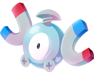 #081 Magnemite by Kuitsuku