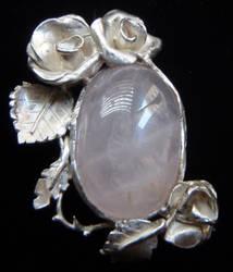 Antique Rose Pendant by biancaneve81