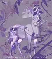 Lilac Unicorn by biancaneve81