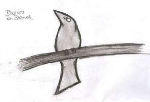 Bird No 2 on Branch by Mutany