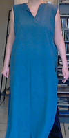 Blue long tunic (blauwe lange tuniek) by Mutany