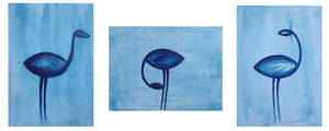 Birds in prusian blue by Mutany