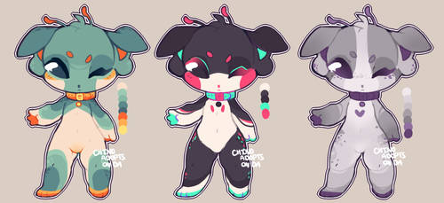 $7 alien doggo adopts (closed) by kvives