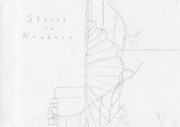 Stairs to Nowhere by darkblackcorner