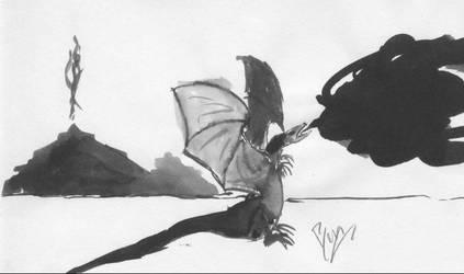 dragon: 3 of 5 by darkblackcorner