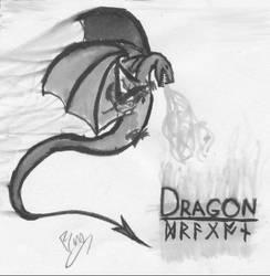 dragon: 4 of 5 by darkblackcorner