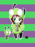 invader criss and gir by sasodeifangirl13