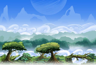 Paralax Map - Forest by Lanasy